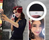 android beauty - Mobile Phone LED Cover Case For iPhone S LG Samsung S6 Android Phone Adjustable Beauty Selfie Ring Bright Flash Light Camera