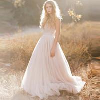 Wholesale 2016 Beach Wedding Dresses with Applique Sweetheart Lace Sleeveless Summer Long Bridal Gowns Backless Vestido De Noiva DG