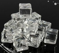 Event & Party Supplies acrylic display cubes - acrylic ice Size mm Wedding Party Display Artificial Acrylic Ice Cubes Crystal Clear Decoration acrylic ice cubes