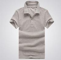 army t shirt wholesale - 2016 HOT SAL Summer polo shirts Men s T shirt bottoming shirt loose cotton polo shirt lapel short sleeve t shirts