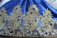 antique metallic lace - Yards Victorian Antique Gold Embroidery Lace Trim in Metallic Gold for Bridal Wedding Gown Costume design
