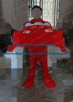 auto sedan - Vivid Red Saloon Car Limousine Sedan Automobile Auto Mascot Costume Cartoon Character Mascotte Adult Orange Car Lamp ZZ1078 FS