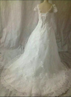 beautiful trails - 2016 high quality beautiful long trail wedding dress with sleeves
