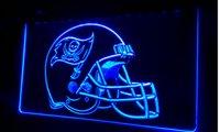 Wholesale LS413 b Tampa Bay Buccaneers Helmet Bar Neon Light Sign jpg