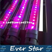 Wholesale ft ft ft T8 Integrated Led Tube Grow Lights SMD2835 W W W Indoor Hidroponia Plants Hydroponic Grow Box AC V