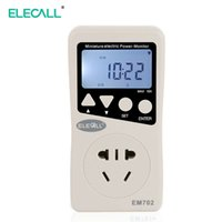 Wholesale ELECALL EM702 LCD Digital Energy Power Meter Watt Volt Amp Frequency Monitor Wattage Voltage Analyzer V V