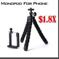 Wholesale Flexible Tripod for iPhone and Digital Camera Perfect mini tripod for Travel Tripod flexible º INCLUDES piece for mobile