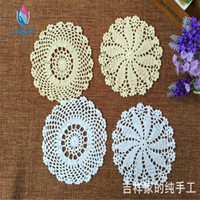 best pot holder - 10 best selling natural cotton knitted doilies for wedding decoration as table decorative pad pot holder coaster for home decoration