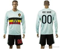 Wholesale belgium EURO CUP european national team long sleeve soccer jersey shirt uniform kit home away kits jerseys man uniforms men with shorts