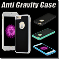 anti fit - Anti Gravity Case Selfie Hybird TPU PC Sticky Antigravity Magical Back Cover For iPhone S Plus SE S Samsung Note S6 S7 Edge