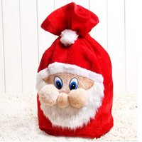 amazon tv movies - Amazon Santa Claus Christmas gift bag backpack high grade velvet Plush Christmas gift bag