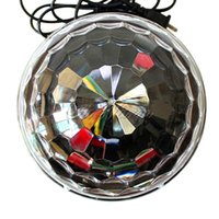 base ball usa - Colorful Auto Rotating Stage lights laser projector LED rotated base voice activated led crystal magic ball light Disco DJ