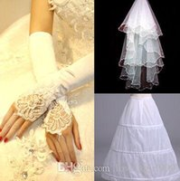 Wholesale New Arrival Hot Sale Fashion Elegant Luxury Princess Sexy Lace Wedding Accessories Pearl Lace Veil Pearl Lace Gloves Petticoat