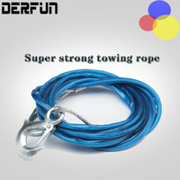 Wholesale Car Vehicle Boat Steel Wire Tow Rope Towing Strap Rope with Hook Emergency Heavy Durable Towing Ropes