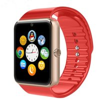 Wholesale GT08 Smart Watch Bluetooth SIMCard wristwearHealth Watch sync for IOS Android phones Smartphone Bracelet Smartwatch latest smartwatches