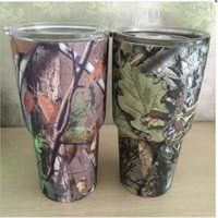 Wholesale DHL In Stock OZ Camouflage YETI Shaped Cups Double Insulated Rambler Tumbler Stainless Steel Mugs VS YETI Cups Christmas Gifts