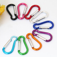 climbing carabiner - S mini Aluminum multitool button Carabiner keychain Durable camping hiking Carabiner key ring Snap Clip Hooks EDC hangs
