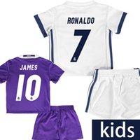 Wholesale Top thai kids real madrid soccer jersey Ronaldo BALE children Camiseta de futbol real madrid maillot de foot