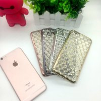 TPU apple lattice - Cell Phone Cases iPhone Colorful Electroplating Diamond Type Lattice Veins Cases Luxurious Cover Soft Shell for iPhone6 s Plus s hybrid