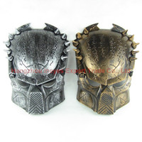 alien movie mask - Vivid Alien Movie Peripheral Product Supper Exquisite Replica AVP Predator Mask Metallic Detail Good Quality Film Prop Gold And Silver