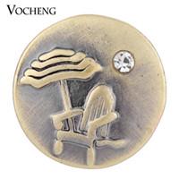 achat en gros de boutons en métal bronze-Bijoux VOCHENG NOOSA Ginger snap 18mm Bouton Métal Bronze Plage Vn-1322