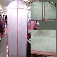 Wholesale In Store Non woven fabrics Wedding Garment Bag Prom party evening dresses Dust Cover cm Long Cheap