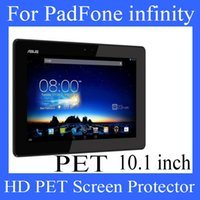 asus padfone price - 10 inch Asus PadFone infinity PET screen protector screen protector HD transparent clear PET protector Best Quality Factory Price