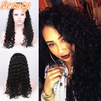 baby fonts - Brazilian Curly Lace Wig Full Lace Human Hair Wigs For Black Women Loose Deep Wave Glueless Lace Font Hair Wigs With Baby Hair
