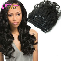 virgin brazilian hair clip in - Human Hair Clip Ins For Black Hair Remi Clip In Human Hair Extensions G Real Human Hair Extensions Clip In
