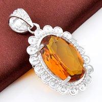 best gems - Best Wholesle Pieces Delicat Oval Shiny Brazil Citrine Crystal Gems Sterling Silver USA Israel Wedding Engagement Pendants Weddings
