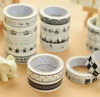 decorative tape - 100 pc m cm style ramdon Korean office decorative adhesive tape scrapbooking tools washi stickers masking scotch mask DIY Cartoon