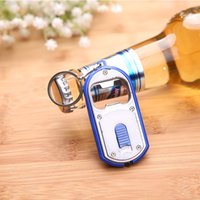 beer bottle lamps - 200pcs Metal in Beer Bottle Opener LED Light Lamp Key Chain Ring Keychain