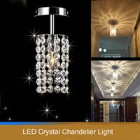 Wholesale Fashion LED crystal ceiling lamp bedroom stainless steel Ceiling Lights led lamp K9 crystal led lustre light Ceiling Lights
