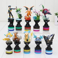 anime collection action figures - 10pcs set Anime Poke Center Pikachu PVC Action Figure Collection Model Toys Dolls Classic Toys attractive in price
