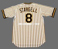 Wholesale Throwback WILLIE STARGELL Pittsburgh Pirates Retro jerseys embroidery Men s baseball jersey