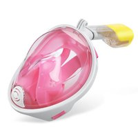 Wholesale Pink Snorkeling Snorkel Full Face Dive mask easybreath diving mask and snorkel for Adults Size Large