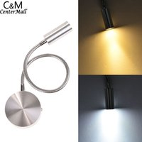 adjustable bedside lamp - LED Silver Bedside Lamp Reading Wall Lamps W Plumbing Trap Background Mirror Light With Switch Adjustable Drop Shipping