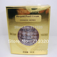 achat en gros de original brand china-SIMENGDI Bio-gold pearl cream 60g * 100% original anti-âge blanchissant crème pour le visage Crème de nuit Chine célèbre marque produit perle naturel