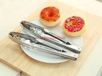 Wholesale Stainless Steel Food Tongs Kitchen Buffet Cooking Tool Anti Heat BBQ Clip Kitchen Clamp Barbecue Tongs
