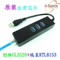 Wholesale Usb3 hub with Gigabit Ethernet card USB to RJ45 cable outside the cards from a batch