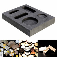 Wholesale 1OZ GOLD Graphite Ingot Bar Round Coin Combo Mold Casting Refining Scrap