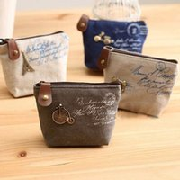 Wholesale Womens Girls Retro Canvas Coin Purse With Different Mental Decorations Change Cards Bag Colors Fashion Wallets