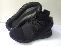 authentic fur - Authentic Tubular Doom Primeknit Sneakers Running Shoes KITH Ronnie Fieg All Black Men s Casual Shoes Breathable Sport Shoes Size