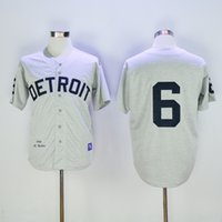 al base - New Detroit Tigers Throwback Jersey Mens Al Kaline Grey Cool Base Baseball Jersey Accept Mixed Orders Best Quality