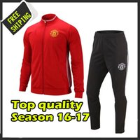 Wholesale 2016 United jacket and pants tracksuits Thailand quality suits sweatsuits