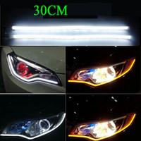Wholesale 30CM Waterproof LED Steering lamp IC Steering lamp belt eyes light LED Daytime Running Light car led light auto Light Sourcing