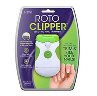 Wholesale New Green Roto Clipper Electric Nail Trimmer Safe Fast and Easy Dual Sides Nail Art Beauty Accessory