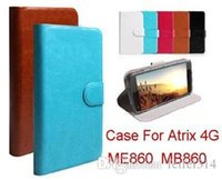 atrix cases - High Quality PU Leather Wallet Flip Holster For Motorola Atrix G ME860 MB860 inch Case Gift Touch Pen