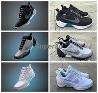 auto shoes - 2016 HyperAdapt Lighting Mags Mens Running Shoes Black Grey White Cheap Air Mag Back to future Shoes Without Auto Lacing US7