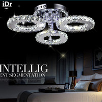 Wholesale Modern Chandeliers brief living room led lamps led crystal circle light lighting high quality LED energy saving Luxury lamp